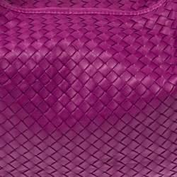 Bottega Veneta Pink Intrecciato Leather Large Veneta Hobo