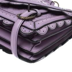 Bottega Veneta Lavender Intreccaito Leather Wingtip City Knot Shoulder Bag