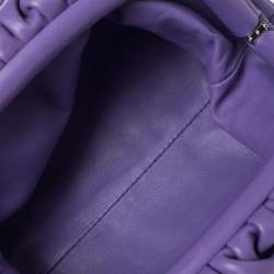 Bottega Veneta Purple Leather Mini The Pouch Shoulder Bag
