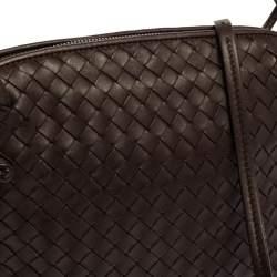 حقيبة كروس بوتيغا فينيتا نوديني جلد أنترشياتو بني