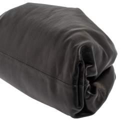 حقيبة كلتش بوتيغا فينيتا ذا بوش جلد أسود