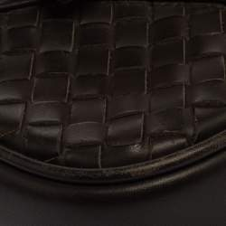 Bottega Veneta Brown Intrecciato Leather Briefcase