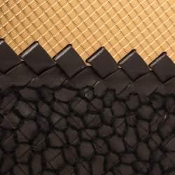 Bottega Veneta Dark Brown Intrecciato Leather Clutch