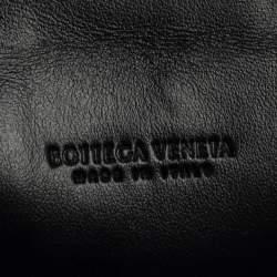 Bottega Veneta Black Maxi Intrecciato Leather Card Case
