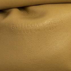 Bottega Veneta Pastel Yellow Leather Mini The Pouch Shoulder Bag