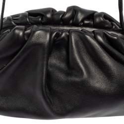 Bottega Veneta Black Leather Mini The Pouch Shoulder Bag