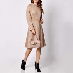 Bottega Veneta Pink Intrecciato Leather Sphere Top Handle Bag