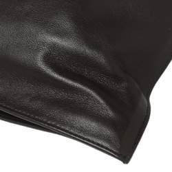 Bottega Veneta Dark Brown Leather BV Knotted Twist Clutch