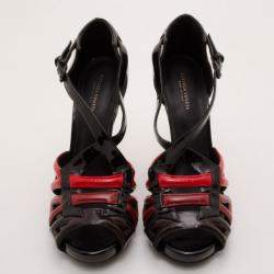 Bottega Veneta Patent Leather Cutout Wedges Size 38.5