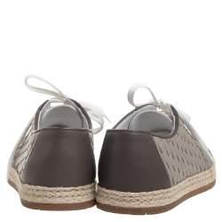 Bottega Veneta  Intrecciato Leather And Jute Espadrille Sneakers Size 36.5