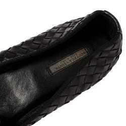 Bottega Veneta Black Intrecciato Leather Smoking Slippers Size 37.5