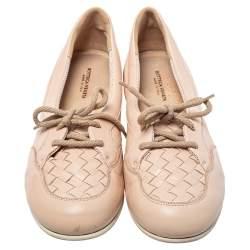 حذاء لوفرز بوتيغا فينيتا أربطة جلد إنترشييتو بيج مقاس 38.5