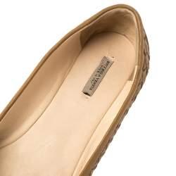 Bottega Veneta Brown Intrecciato Leather Ballet Flats Size 37.5