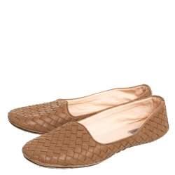 حذاء فلات باليه بوتيغا فينيتا مقدمة مستديرة إنترشييتو بنى مقاس 38