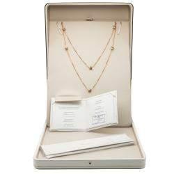 Boucheron Quatre Classique Three Tone Gold & Diamond Long Necklace