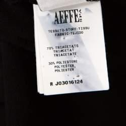 Boutique Moschino Black Crepe High Waist Elasticized Waist Pants M