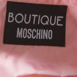 Boutique Moschino Pink Tweed Lace Trimmed Cropped Jacket S