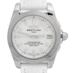 Breitling MOP Stainless Steel Leather Galactic W7433012/A779 Women's Wristwatch 36 MM
