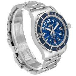 Breitling Blue Stainless Steel Superocean II A17312 Men's Wristwatch 36 MM