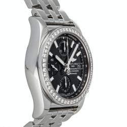 Breitling Black Diamonds Stainless Steel Chronomat A1331053/BD92 Women's Wristwatch 38 MM
