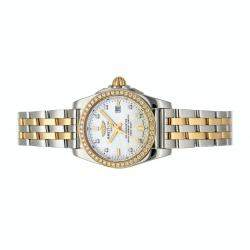 Breitling MOP Diamonds 18K Yellow Gold And Stainless Steel Galactic C7234853/A792 Women's Wristwatch 29 MM