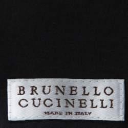 فيست برونيلو كوتشينيلي مونيلي مزين خرز خليط صوف رصاصي داكن M