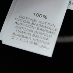 Brunello Cucinelli Black Striped Cotton Tapered Pants M