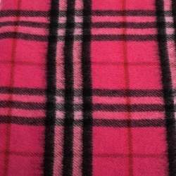 Burberry Bright Pink Classic Vintage Check Cashmere Scarf