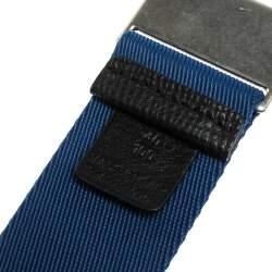 Burberry Blue Canvas Zach Webbing Belt 100 CM