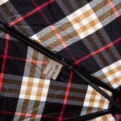Burberry Black/Brown Nylon Mini Check Trafalgar Umbrella