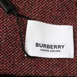 Burberry Bicolor Logo Intarsia Knit Cashmere Football Scarf