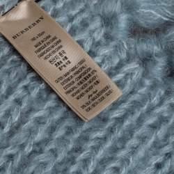 Burberry Color Block Mohair Silk Blend Scarf