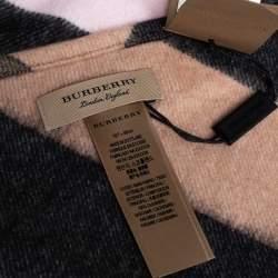 Burberry Pink Half Mega Check Cashmere Bandana