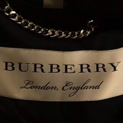Burberry Black Silk Belted Kensington Trench Coat XS