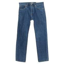 """بنطلون جينز بربري """"فارندون"""" أرجل مستقيمة دنيم أزرق داكن متوسط مقاس وسط (ميديوم)"""