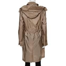 Burberry Beige Gullane Rain Parka Coat S