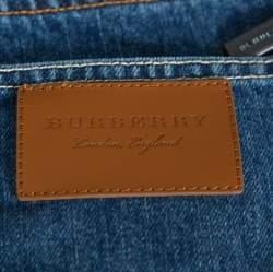 بنطلون جينز بربري ساق مستقيمة دنيم كحلي M
