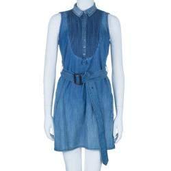 Burberry Denim Pleated Yoke Dress M
