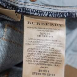 بنطلون جينز بربري فارندون دينم أزرق كحلي  بأرجل مستقيمة مقاس كبير - لارج