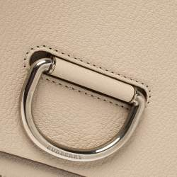 Burberry Beige Leather Small D-Ring Chain Shoulder Bag