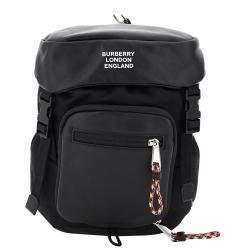 حقيبة ظهر بربري ليو وان نايلون سوداء