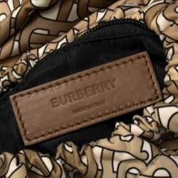 Burberry Beige TB Monogram Nylon Leo Belt Pack Bag