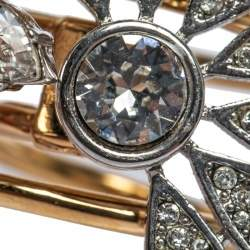 Burberry Two Tone Daisy Crystal Double Ring