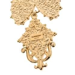 Burberry Light Gold Resin Regal Butterfly Drop Earrings