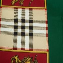 Burberry Multicolor Color Block Archive Printed Silk Scarf