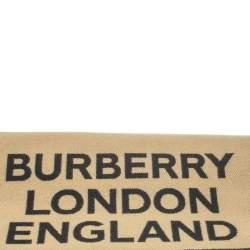 Burberry Beige Logo And Love Pattern Wool Jacquard Muffler
