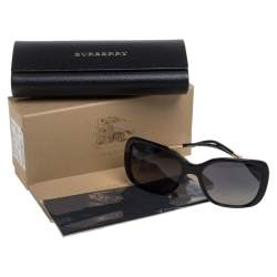 Burberry Black / Grey B 4192 Polarized Square Sunglasses