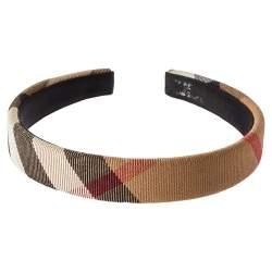 Burberry Brown Novacheck Canvas Headband