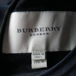 Burberry London Black Cotton Tiered Ruffle Bottom Sleeveless Dress S