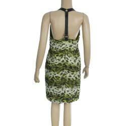 Burberry Prorsum Animal Print Halter Dress M